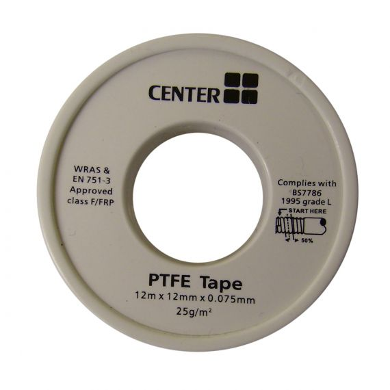 Image for PTFE Thread Tape (12 Metre Roll)