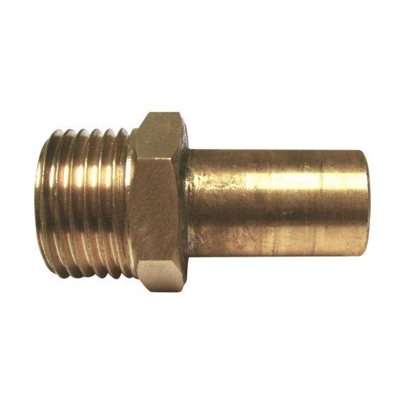 "Image for Brass Reducer 1/2"" BSP M x 15mm Stem"