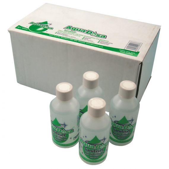 Image for Aqua Dosa Sanitising Fluid 100ml bottle x 24