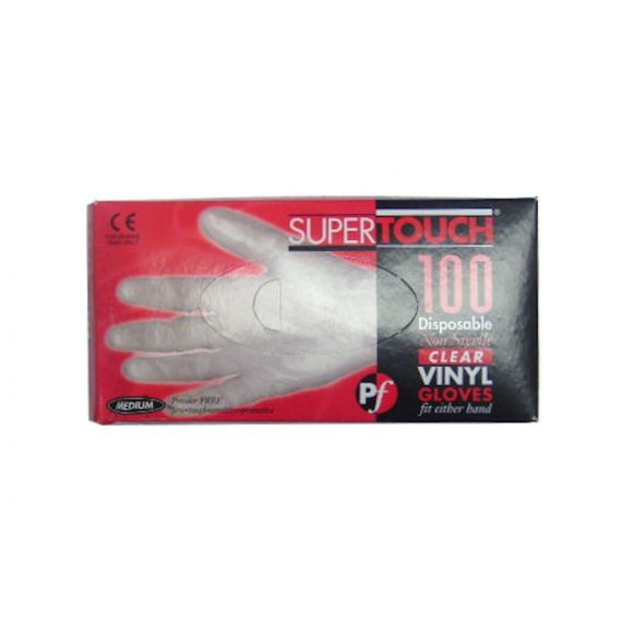 Image for Powder Free Vinyl Gloves - Clear Pack of 100 Size M
