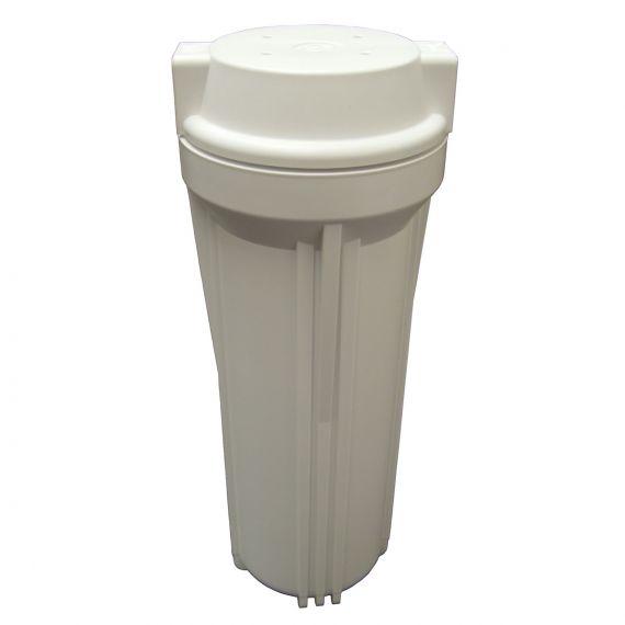 "Filter Housing 10"" Slimline - White - 1/4"" NPTF Ports"