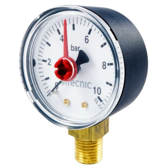 "Pressure Gauge (Bottom Entry) - 1/4"" Male"