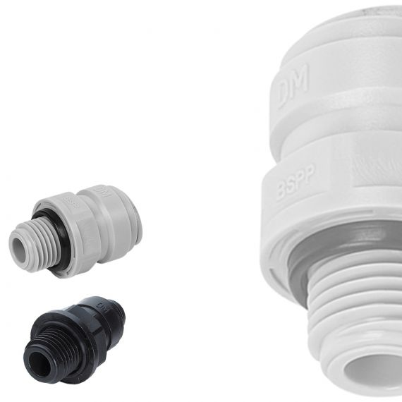 DM Fit | BSP Male Adaptors | Plastic Push Fit