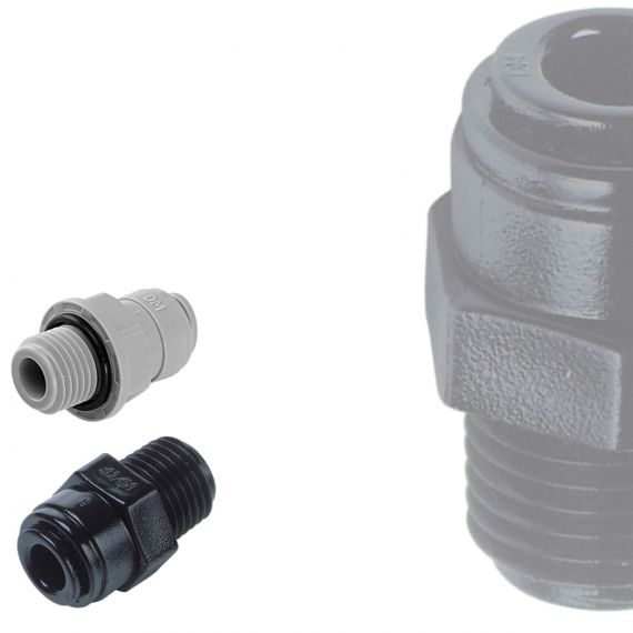 DM Fit | BSPT Male Adaptors | Plastic Push Fit