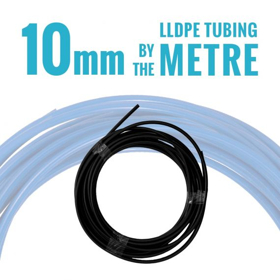 John Guest LLDPE Tubing - 10mm OD - Black - By the Metre