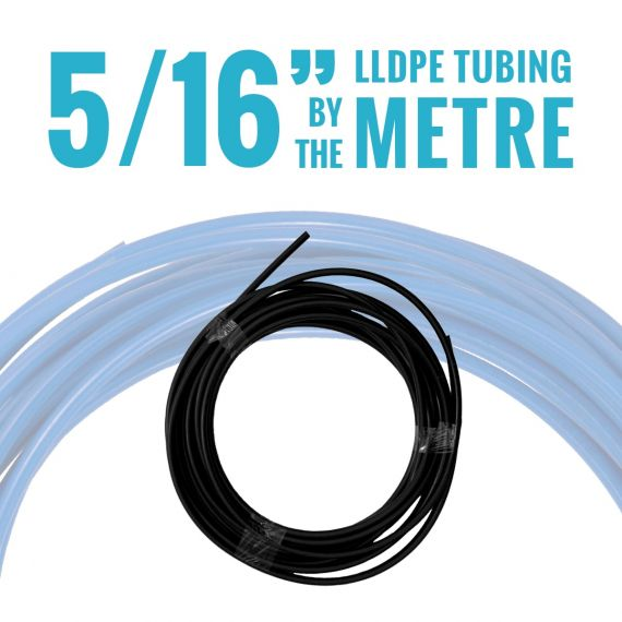 "John Guest LLDPE Tubing - 5/16"" OD - Black - By the Metre"