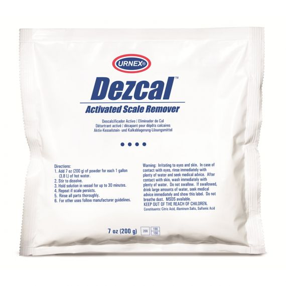 Urnex Dezcal Activated Scale Remover Powder | 200g Sachet