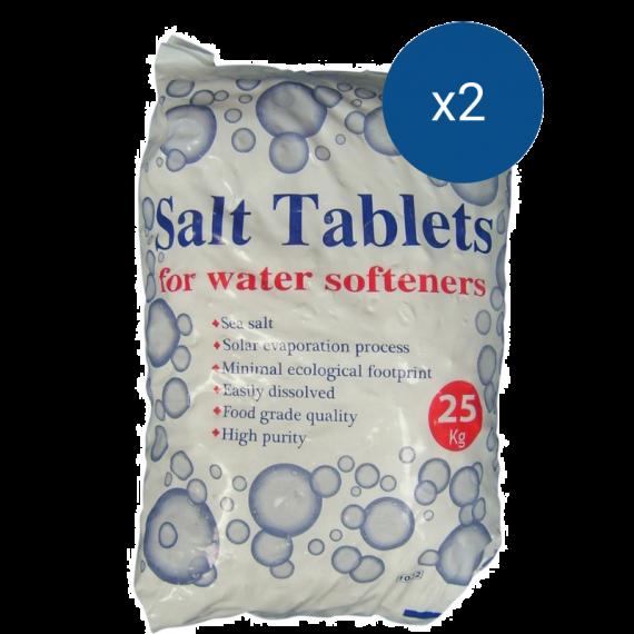 2 x 25kg Sacks of Salt Tablets