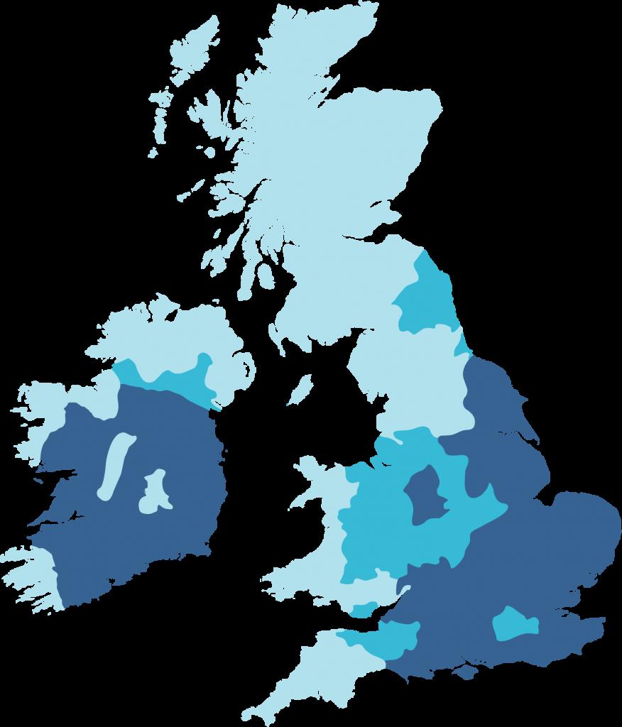 UK Hard Water Map