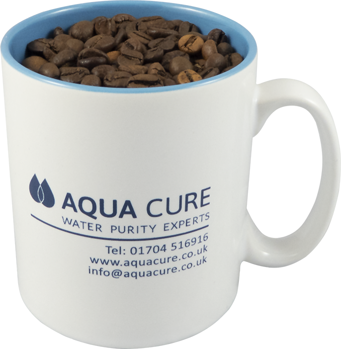 Aqua Cure Mug with Coffee Beans