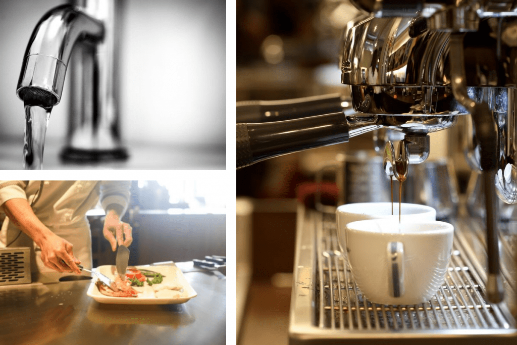 Espresso Machine, Food Service Industry, Tap water